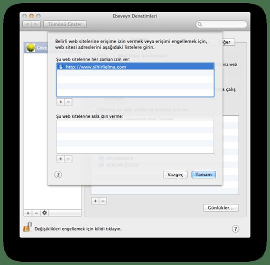 Sihirli elma mac101 ebeveyn denetimleri 5 web 3