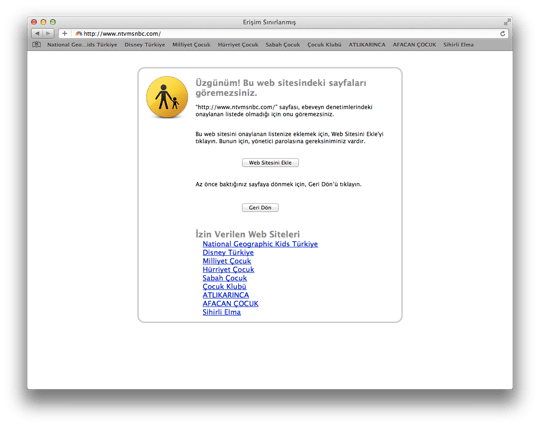 Sihirli elma mac101 ebeveyn denetimleri 5 web 4