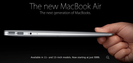 Sihirli elma yeni macbook air ilk izlenimler 2 2010 macbook air