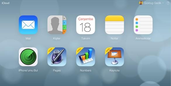 iCloud com yenilendi 3 iCloud.com yeni arayüzüyle karşımızda!