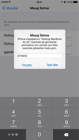 Sihirli elma sms gonder ios mac iphone ipad 9