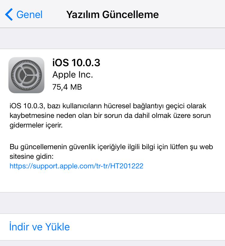 iphone yazılım güncelleme gelmedi