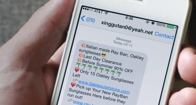 Apple Spam iMessage iletileri
