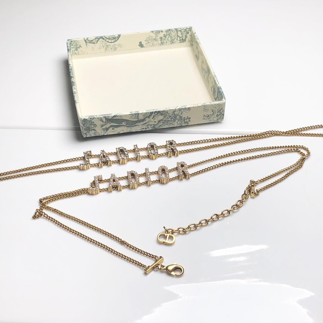 Dior 字母雙層鍊項鍊|Dior 字母雙層鍊項鍊