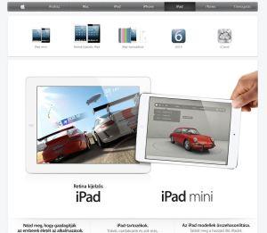 iPad weboldala