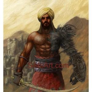 Prince of Patiala, Punjabi Warrior, Warrior, Sikh warrior, Turban, Dastaar, Khalsa, Sikh Art