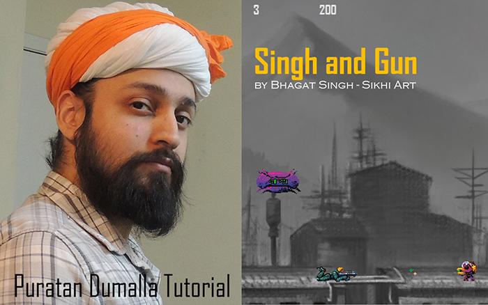 Sikh Artist, Bhagat Singh Bedi, Puratan Dumalla, Gurus' Turban, Sikh Turban, Mughal Turban, Rajput Turban, Punjab Art, History and Heritage, Sikhism paintings, Singh and Gun, Sikh Video-game