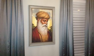 Guru Nanak Dev ji - First Guru of the Sikhs - Portrait by Bhagat Singh - Sikhi Art - Steve Nijjar Collection 2