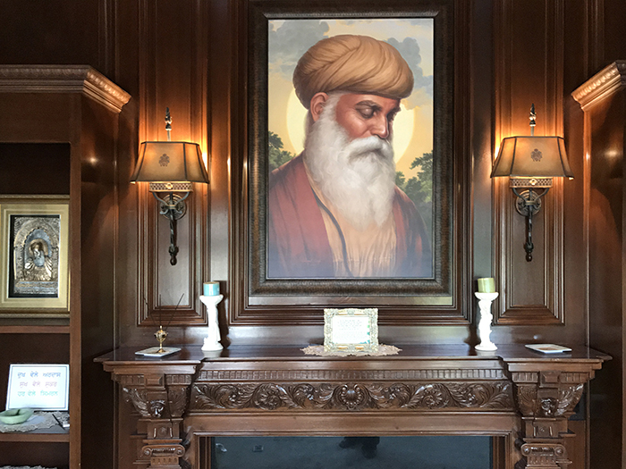 Fine Art Prints, Premium Canvas of Guru Nanak Dev ji - Sikh Paintings by Bhagat Singh Bedi - History of Punjab