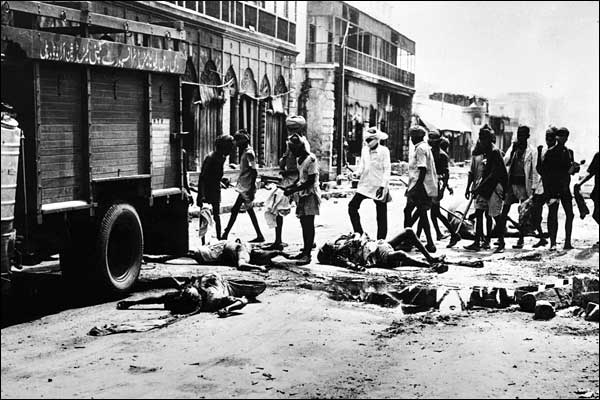 Aftermath of communal rioting during the Partition of India (photo: sikhnet.com)