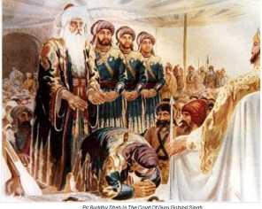 Pir Budhu Shah in the court of Guru Gobind Singh Ji
