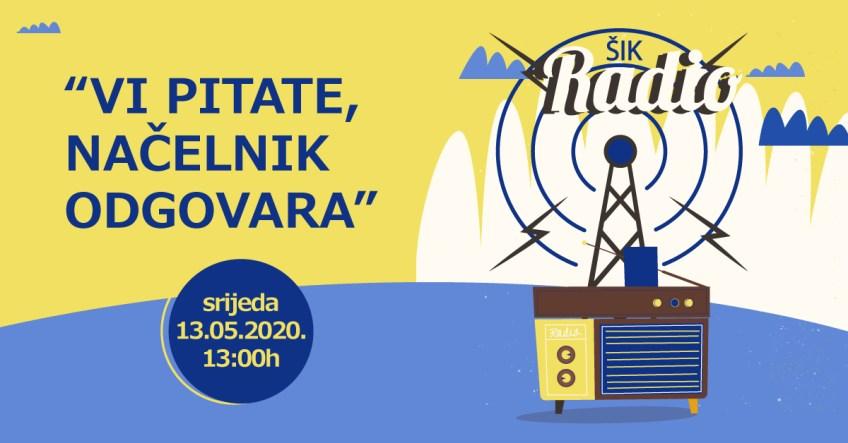 """EMISIJA """"VI PITATE, NAČELNIK ODGOVARA"""" / 13. MAJ 2020."""