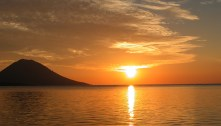 Sunset over Manado Tua