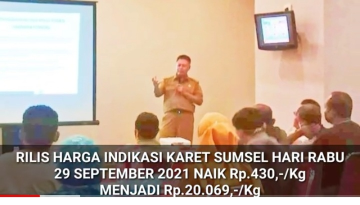 Info Harga Karet Sumsel, Rabu 29 September 2021, 'Naik' Rp430,-/kg