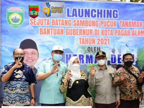 Bupati Musi Rawas Hadiri Launching Gerakan Sejuta Sambung Pucuk Tanaman Kopi