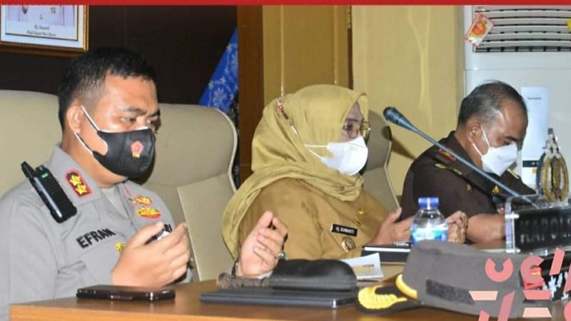 Wabup Mura Ikuti Rapat virtual Penanganan Aktivitas Ilegal Driling di musi rawas.Provinsi Sumsel.