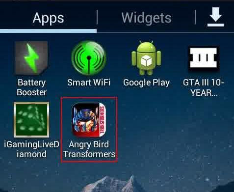 Malware Android Angry Birds Transformers