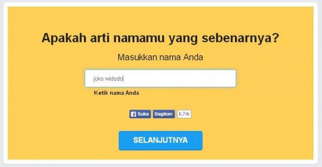 Cek Arti Nama Kamu di Website nametests