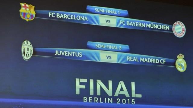 Hasil Drawing Semifinal Liga Champion 2015 Ini Hasil Undian & Jadwal Babak 4 Besar Liga Champions 2015