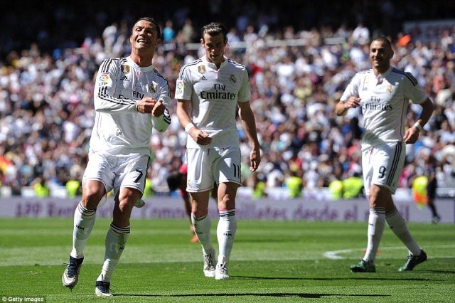 top skor liga spanyol 2015 Cristiano Ronaldo
