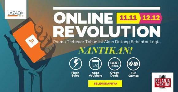 Online Revolution Promo Belanja Akhir Tahun Lazada.co.id