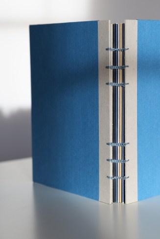 Buchbinden - Skizzenbuch mit Koptischer Bindung: Buchrücken
