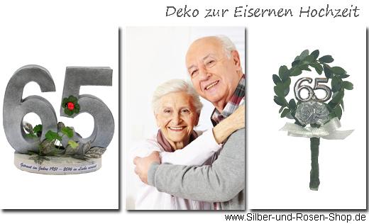 Deko Eiserne Hochzeit  SilberundRosenShop