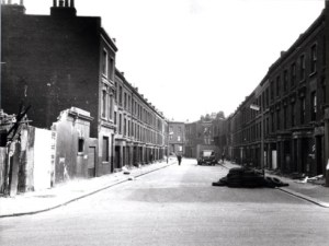 Testerton Street which was demolished to make way for Lancaster West
