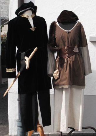 Mittelalterliche Kaufmanns Paar