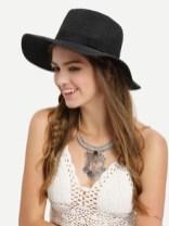 chapeau avec nœuds -Noir