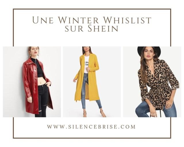 Une Winter Whislist sur Shein