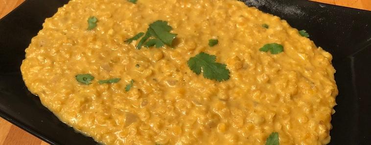 Dahl de lentilles corail, curry et coco light