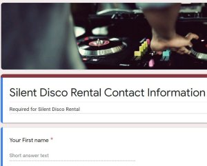 I send you a google contact form