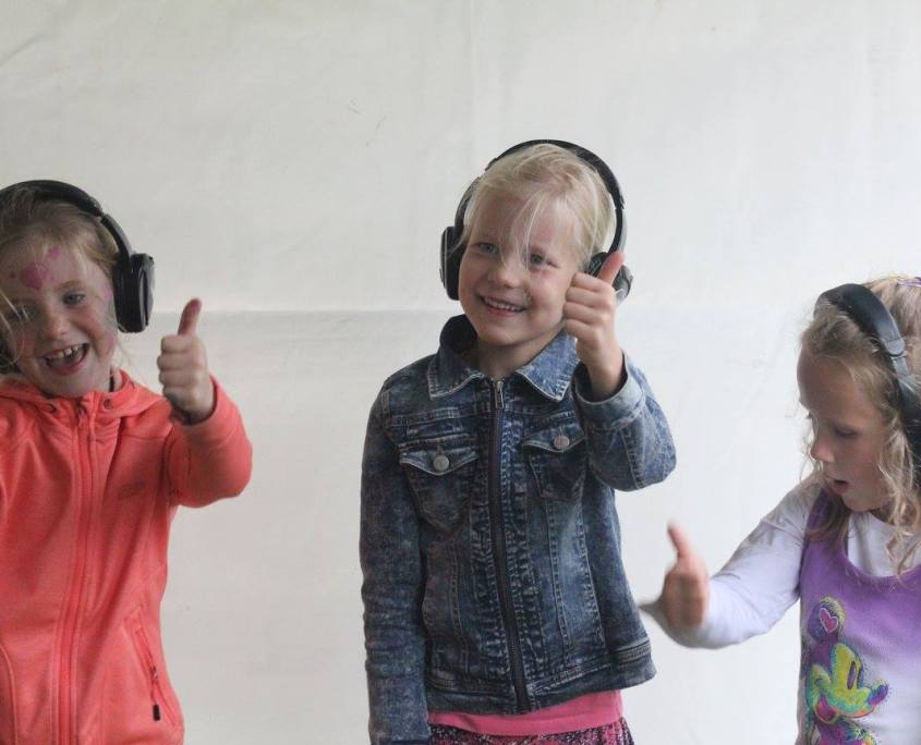 Silent kids disco area bij Waterpop festival Wateringen