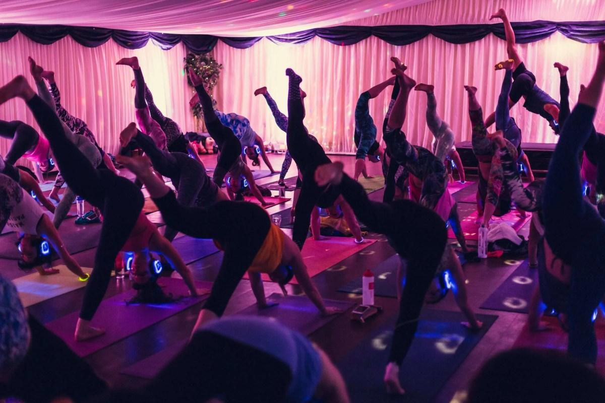 Silent Disco Yoga biggest in the uk original