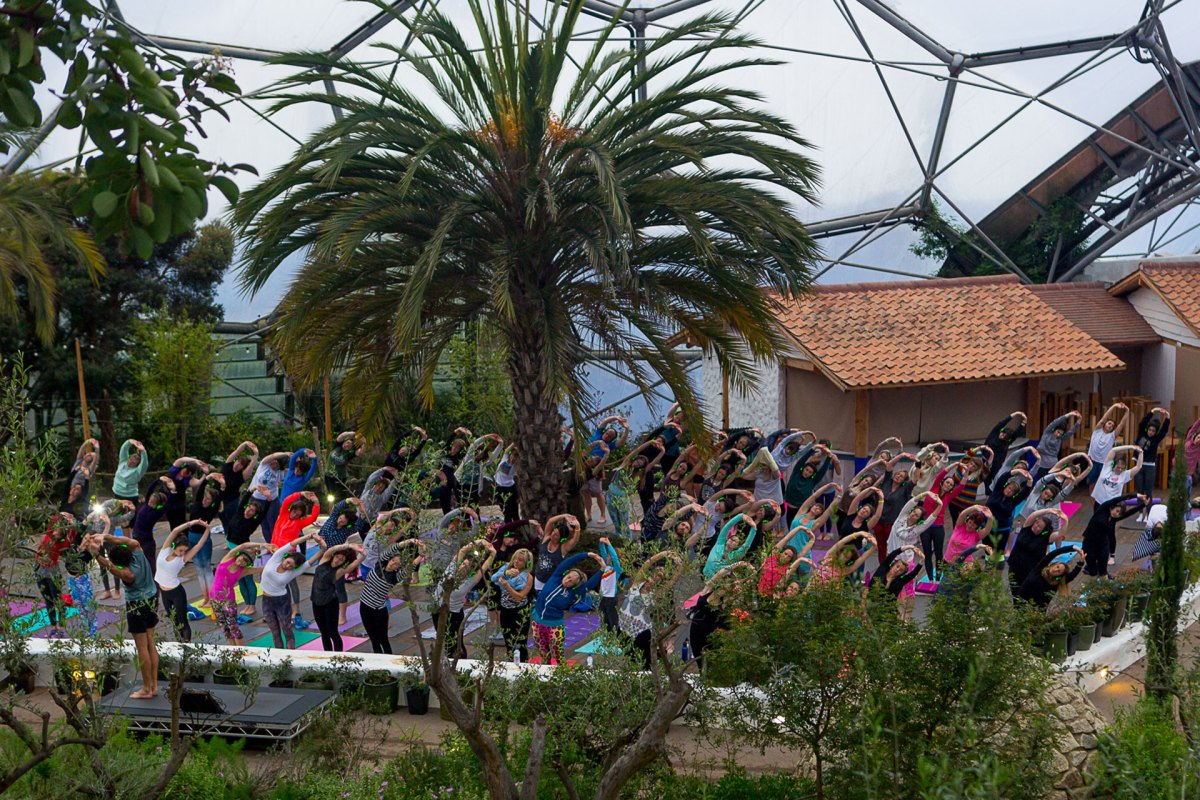 Eden Project Silent Disco Yoga UK