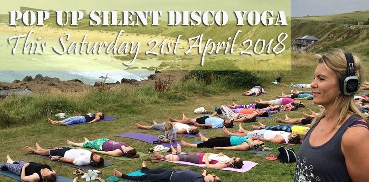 Silent Disco Yoga at South Fistral Newquay CornwallUK