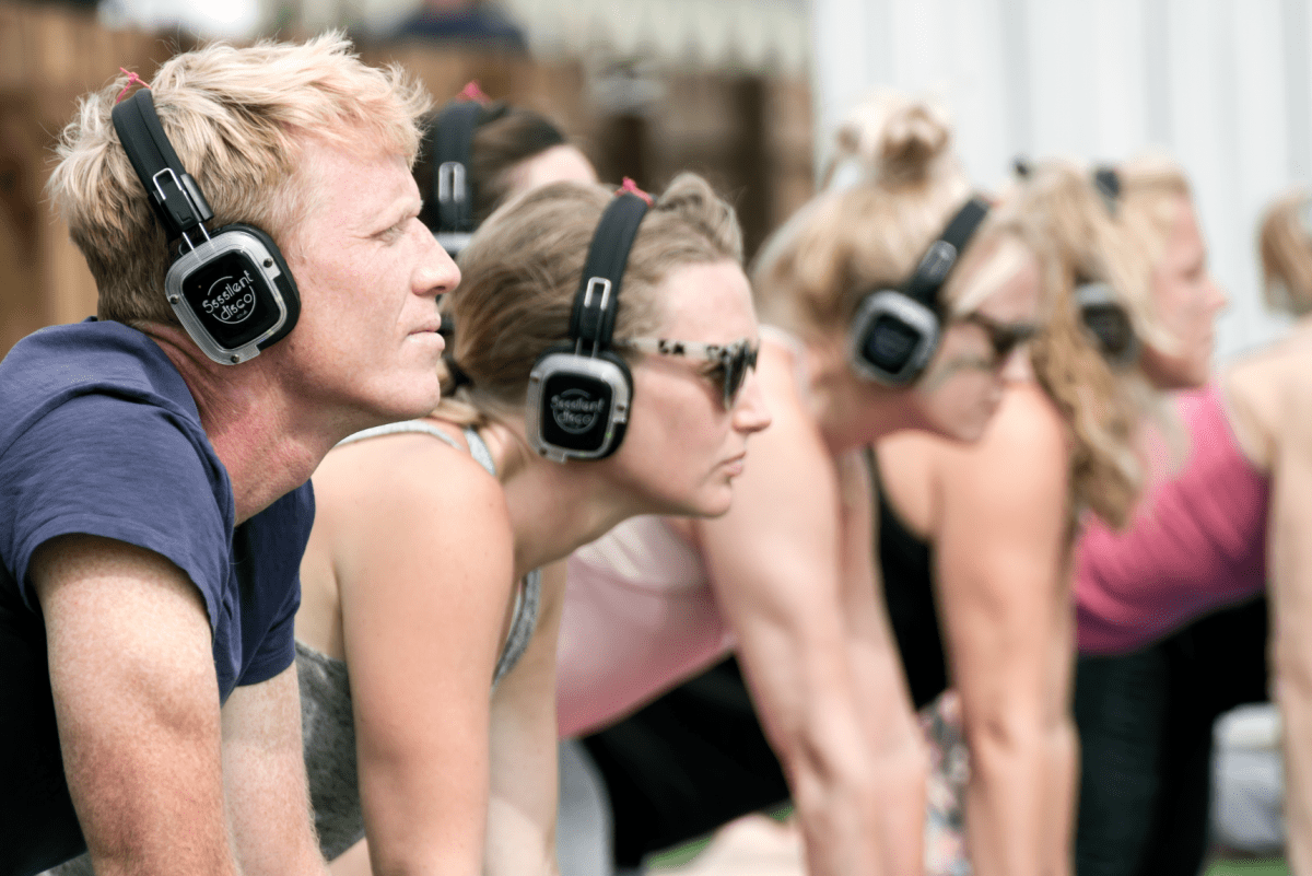 Silent Disco Yoga Brighton sea lanes uk tour