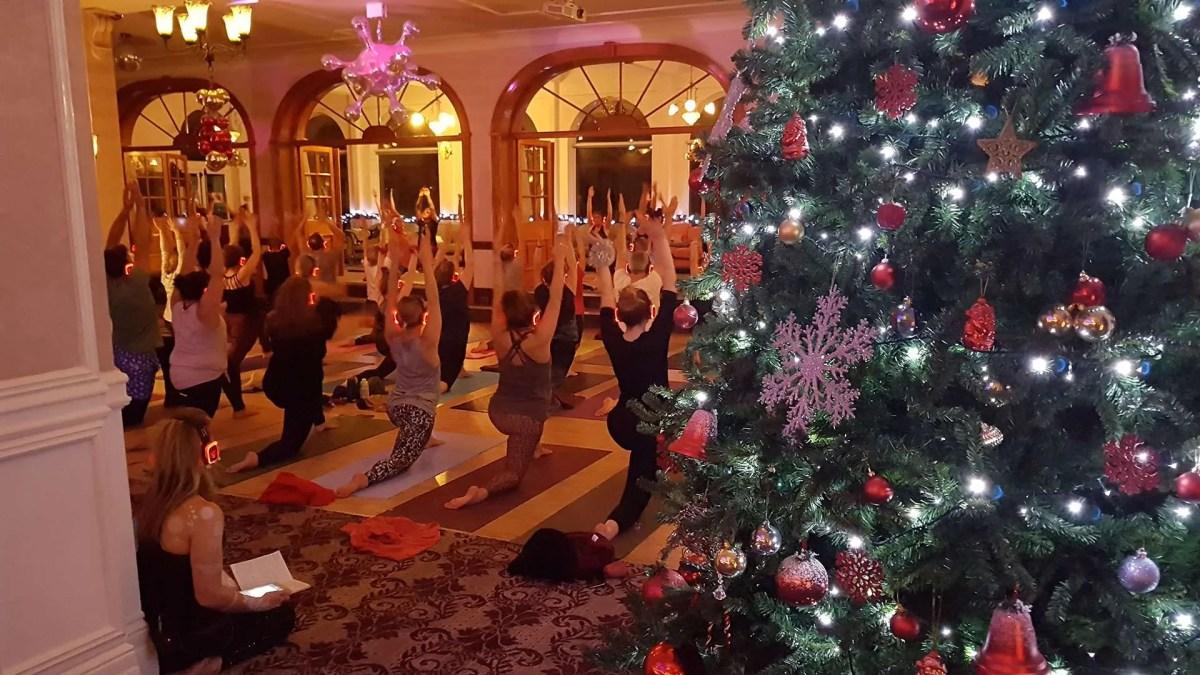 Silent Disco Yoga Christmas Event