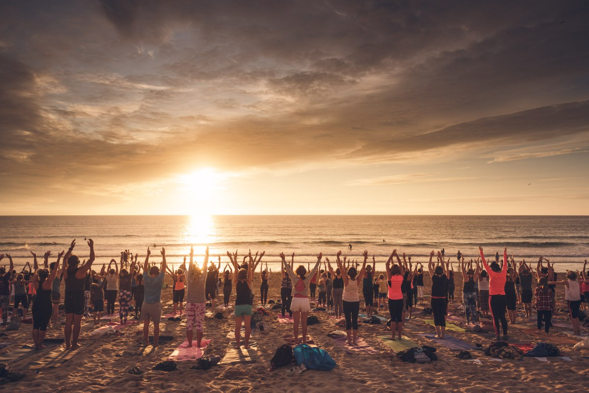 sunset beach yoga silent disco yoga lusty glaze