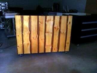 DJ booth meubel hout planken skihut