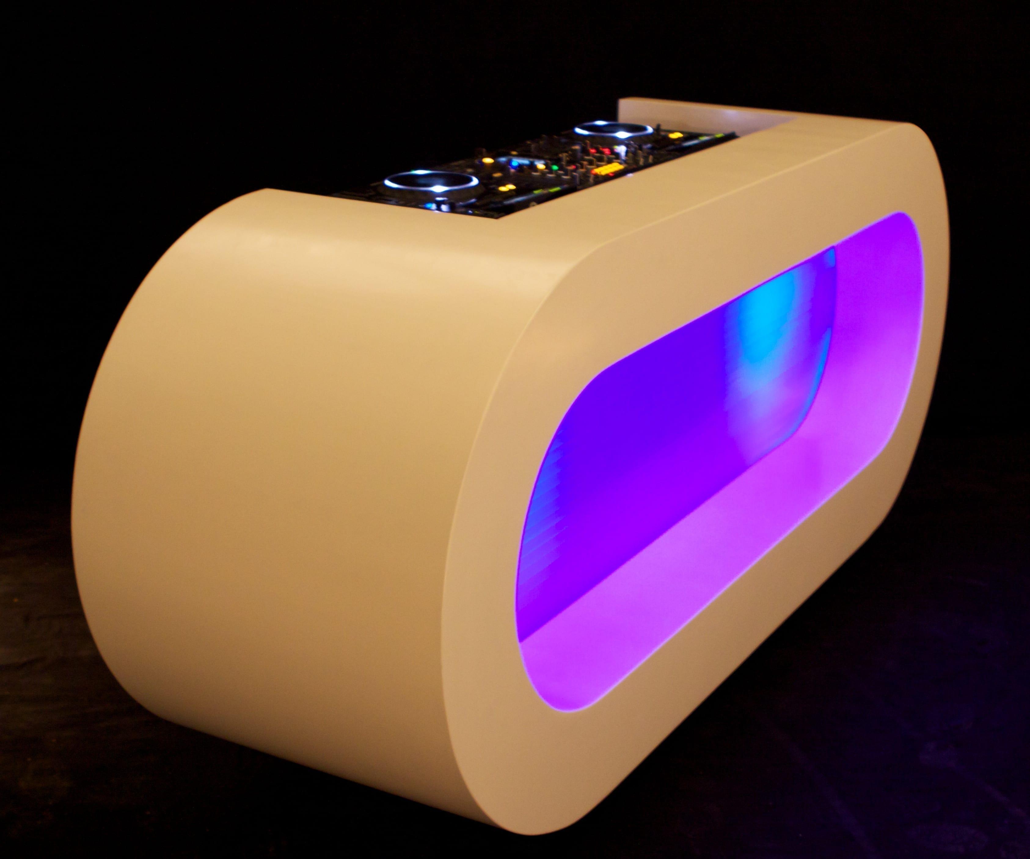 Dj Meubel Huren : Dj booth ovalen meubel silent disco huren boeken verhuur