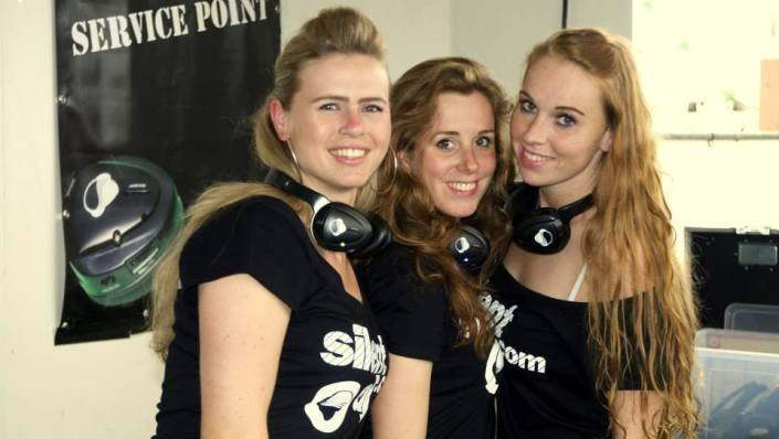 silent disco concert at sea team