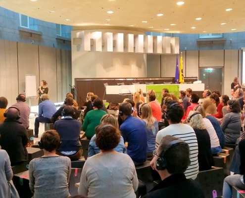 Simultane Workshops - congres silent disco workshop