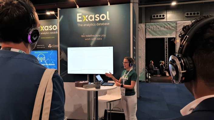 beurs presentatie Exasol big data expo