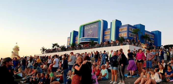 Heineken silent Disco Beach Hotel Concert At Sea