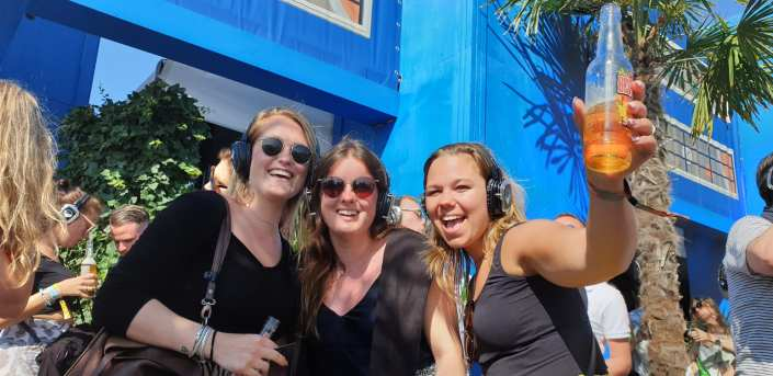 ladies silent disco