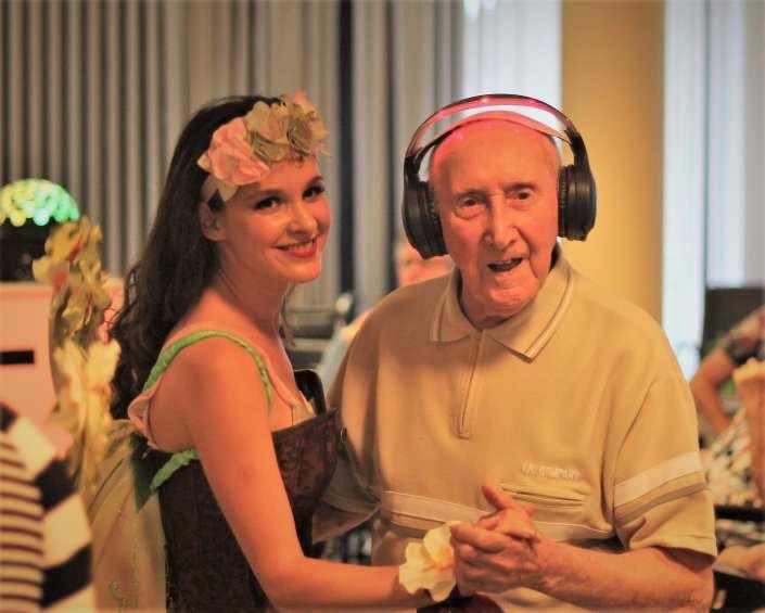 senioren silent disco feest