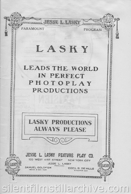 New York City, New York, Strand Theatre Program, November