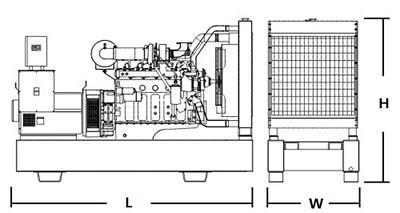 4016TAG 1500rpm Silent PERKINS Diesel Generator Set